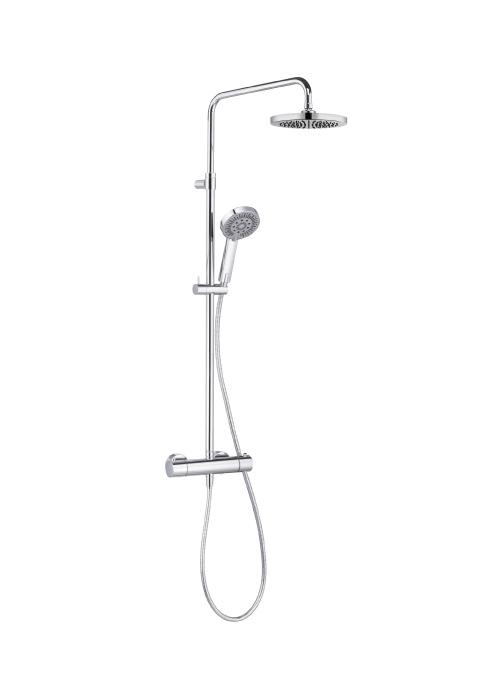 Душевая система с термостатом, ручным и верхним душем Kludi A-QA хром 6619505-00