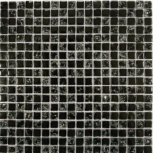 Купить Керамическая плитка China Mosaic Strike Black (8x15x15) Мозаика 30x30, Китай