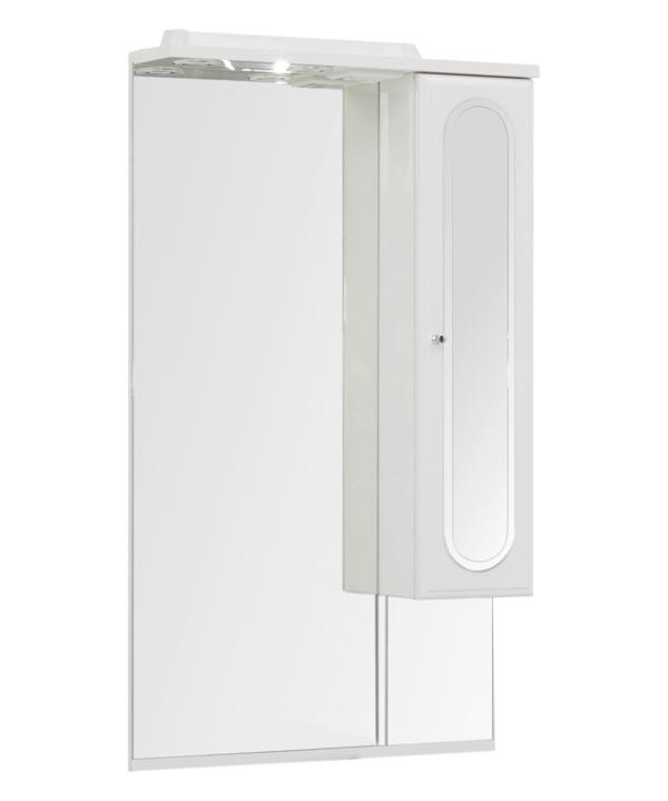 Купить Зеркальный шкаф Aquanet Марсель 60 белый 00100296, Россия