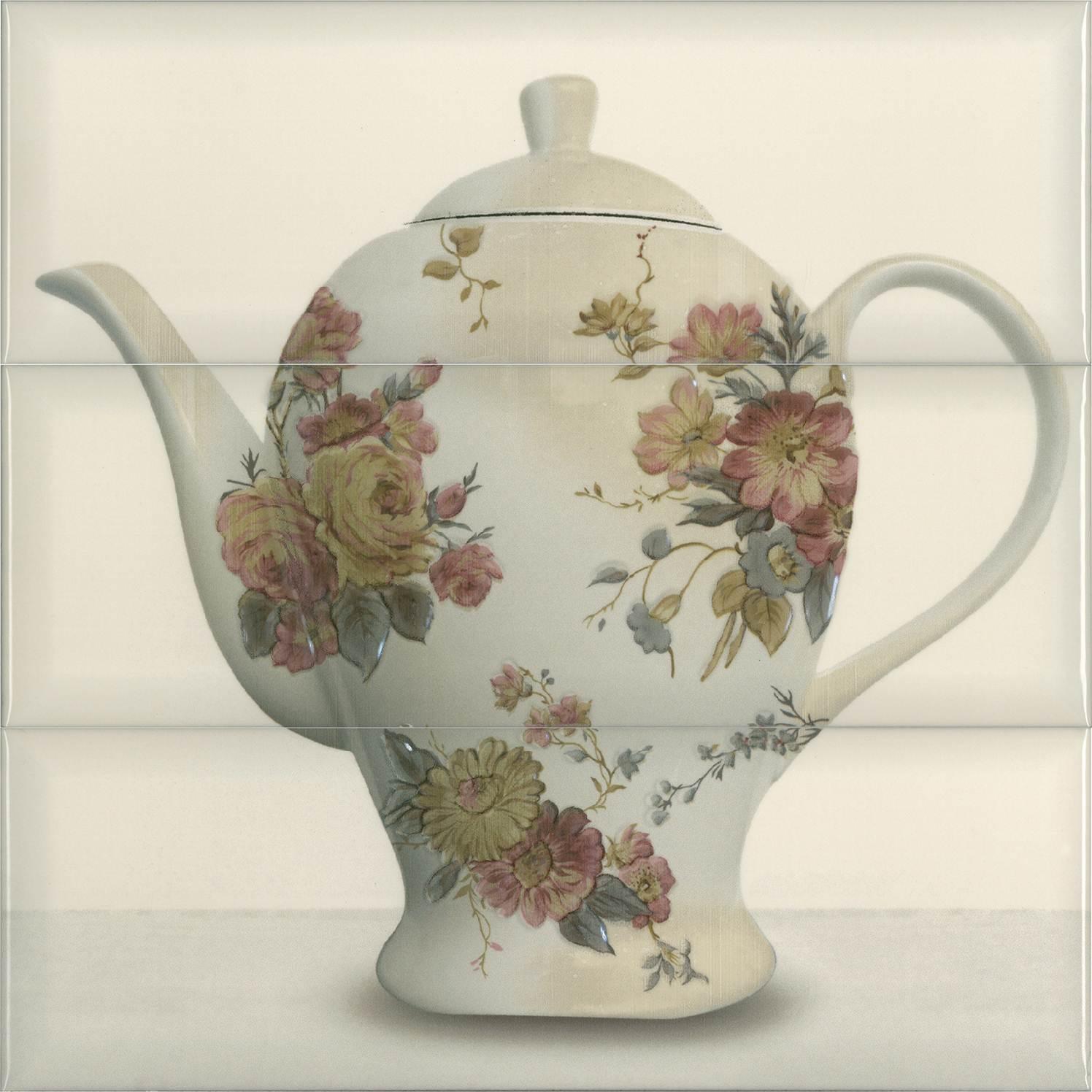 Купить Керамическая плитка Absolut Keramika Composicion Tea 03 Cream панно (из 3-х пл.) 30x30, Испания