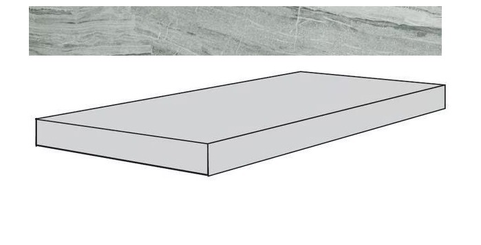 Купить Ступень Seranit Misto Grey Full Lappato угловая 33x120, Турция
