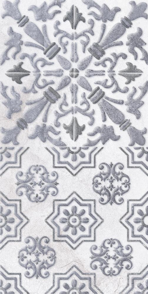 Купить Керамическая плитка Кампанилья Декор 1 серый 1641-0091 20х40, Lb-Ceramics, Россия