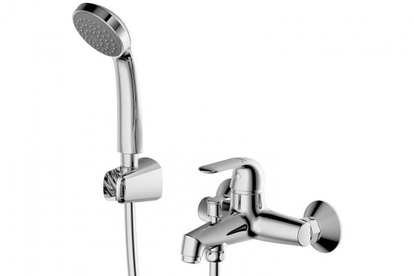 Купить Смеситель для ванны и душа Bravat Simple F6135193CP-B-RUS, Германия