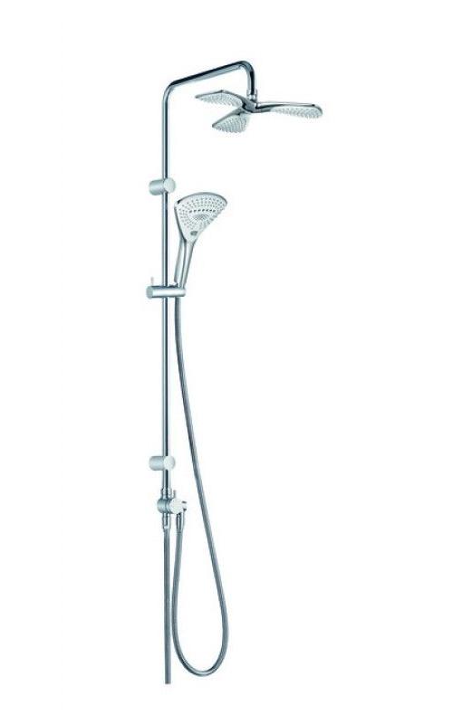 Душевая колонна с ручным и верхним душем Kludi Fizz хром 6709305-00