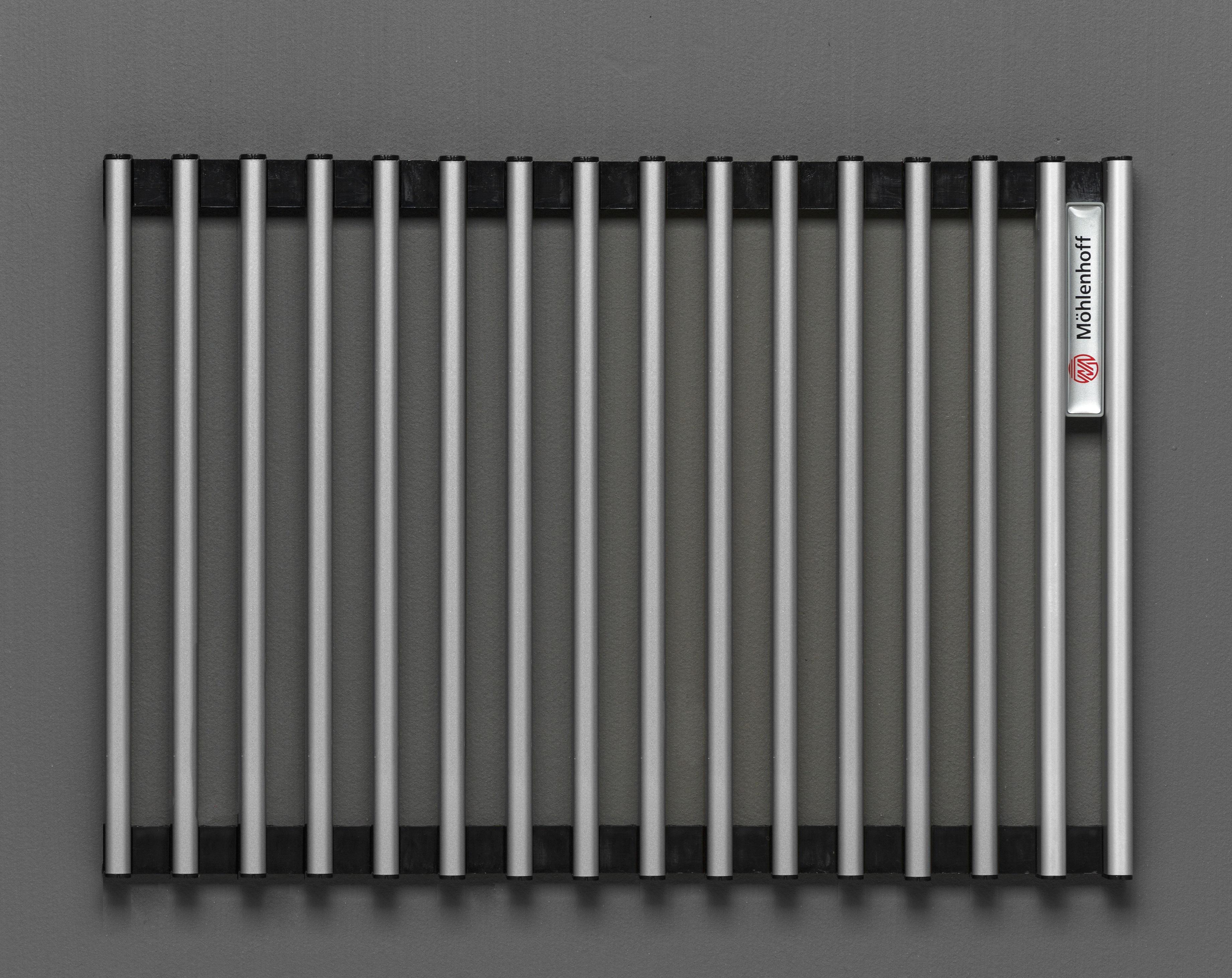 Купить Декоративная решётка Mohlenhoff натуральный алюминий, шириной 180 мм 1 пог. м, Россия