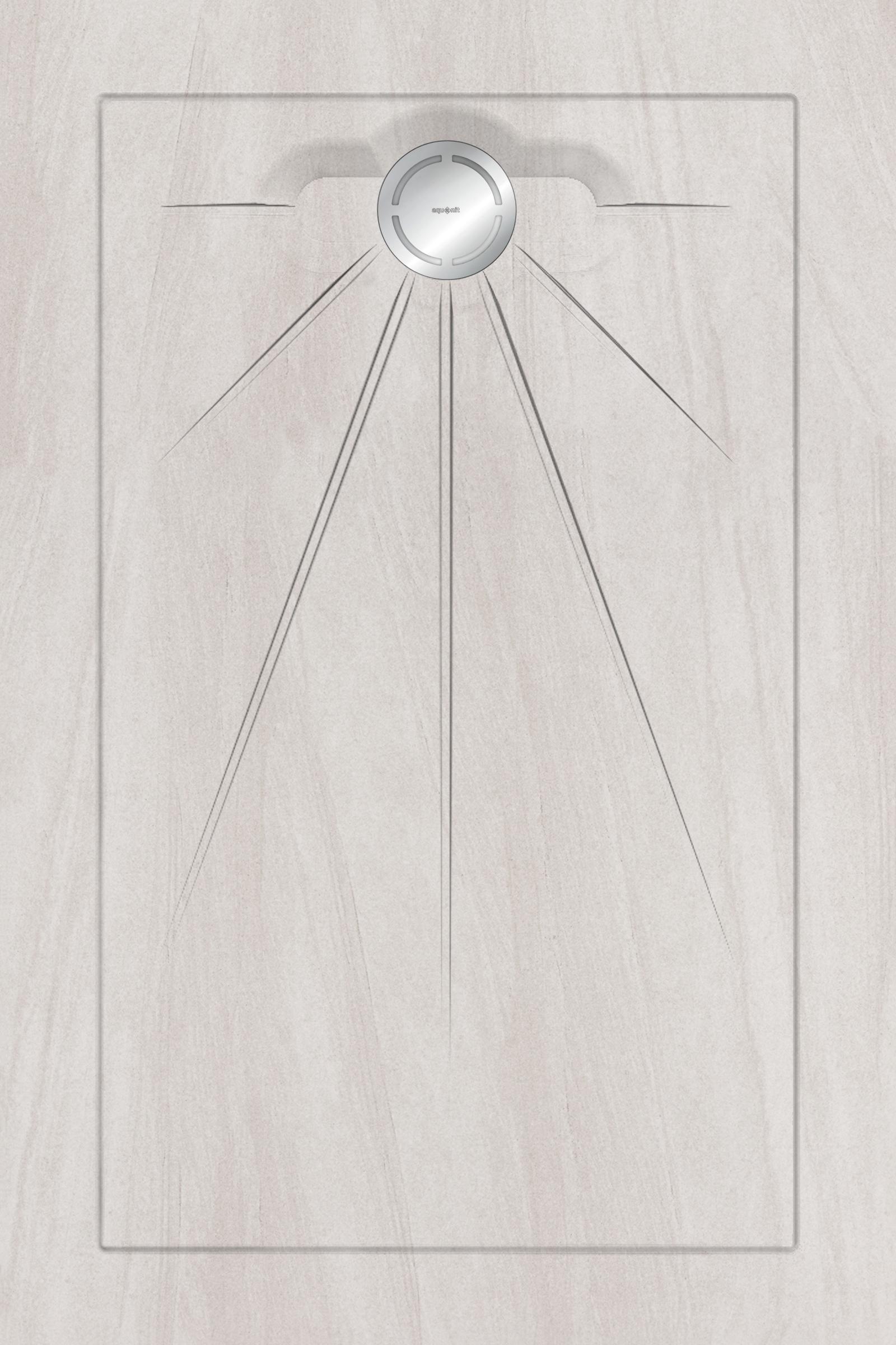 Душевые поддоны Aquanit Arstone White Multi Circle Massive 90x135