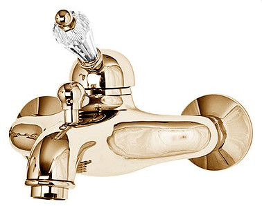 Купить Смеситель для душа Cezares Vintage золото, ручка Swarovski VINTAGE-VM-03/24-Sw, Италия