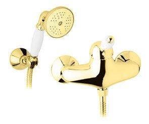 Купить Смеситель для душа Cezares Elite золото, ручка орех ELITE-D-03/24-Nc, Италия