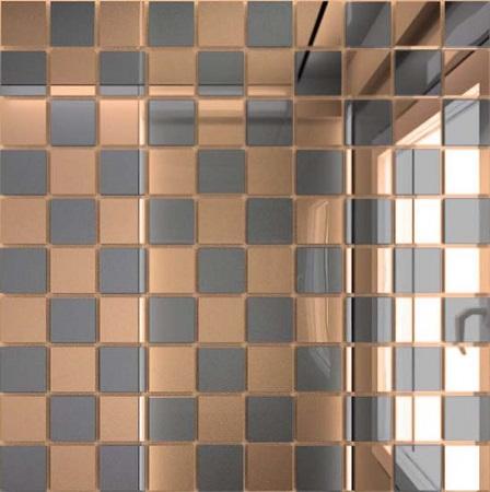 Купить Мозаика зеркальная Бронза + Графит Б50Г50 ДСТ 25 х 25/300 x 300 мм (10шт) - 0, 9, Россия