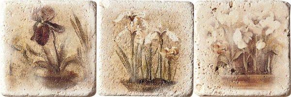 Купить Керамогранит Serenissima Marble Style Inserto Travertino S/3 (комплект) панно 10х10, Италия