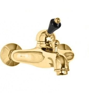 Купить Смеситель для душа Cezares Vintage золото, ручка Swarovski черная VINTAGE-VM-03/24-Sw-N, Италия