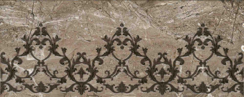 Купить Керамогранит Kutahya Talya Luks Decor Brown декор 30x75, Турция