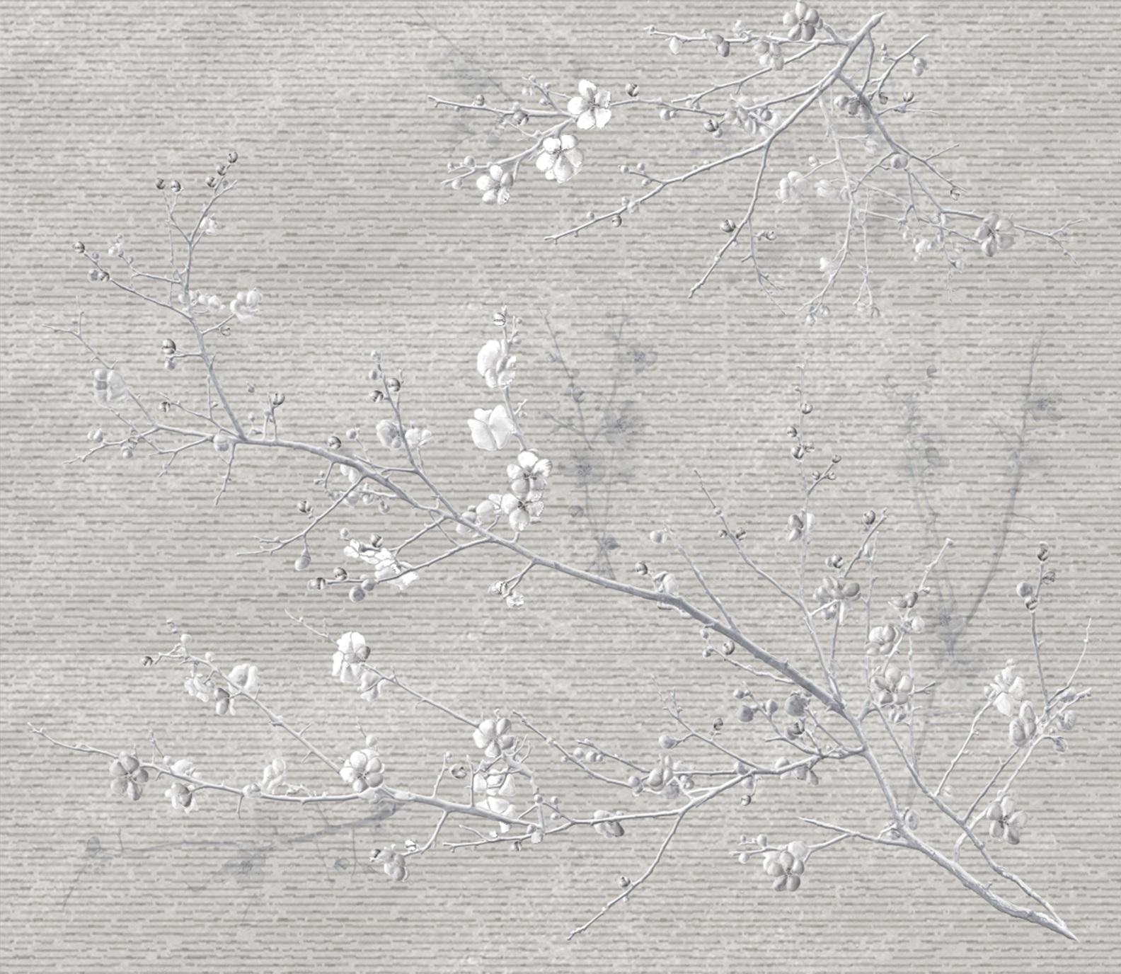 Купить Керамическая плитка Ibero Elevation Decor Peace Grey (A+B+C) S-109 панно 87х100, Испания
