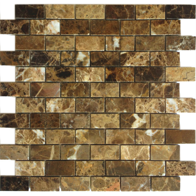 Купить Мозаика Caramelle Mosaic Pietrine 4mm Emperador Dark Pol (2, 3x4, 8) 29, 8x29, 8, Китай