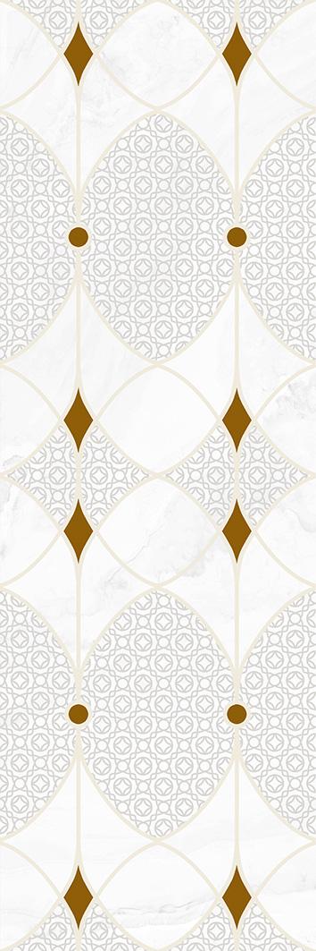 Купить Керамическая плитка Constance grey light Декор 02 30х90, Gracia Ceramica, Россия