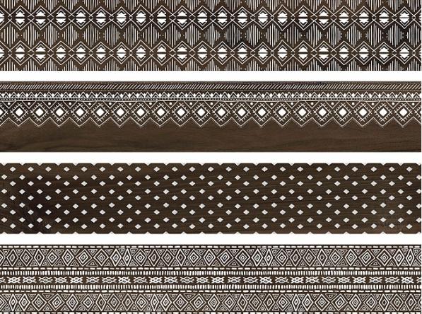 Купить Керамогранит Про Вуд коричневый декорированный обрезной DL550400R 30х179, Kerama Marazzi, Россия