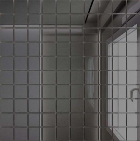 Купить Мозаика зеркальная Графит Г25 ДСТ 25 х 25/300 x 300 мм (10шт) - 0, 9, Россия
