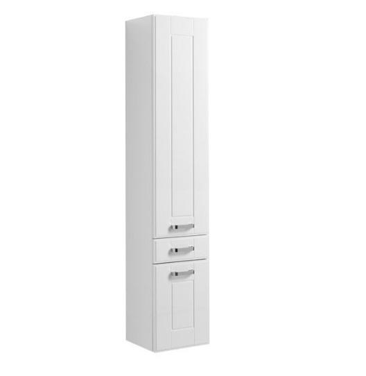 Купить Пенал Aquanet Рондо 35 подвесной белый (2 дверцы, 1 ящик) 00189159, Россия