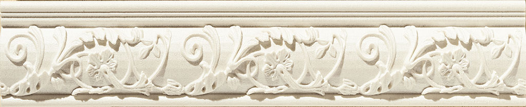 Купить Керамическая плитка Azulev Onice Listello Aradia Marfil бордюр 6x29, Испания