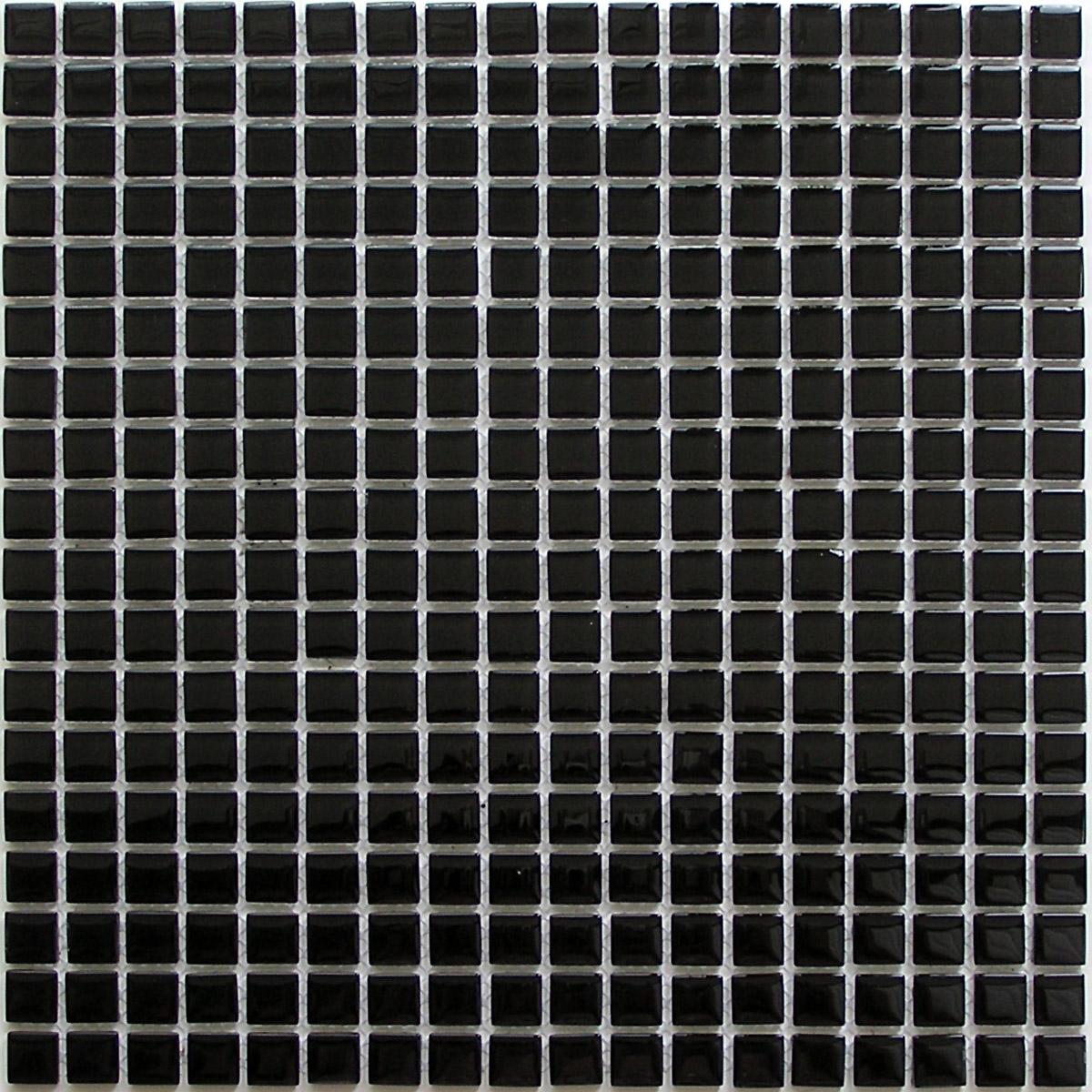 Купить Керамическая плитка China Mosaic Super black (4x15x15) Мозаика 30x30, Китай
