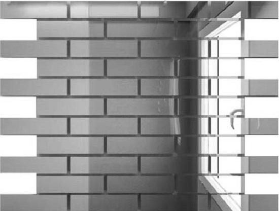 Купить Мозаика зеркальная Серебро С8025 ДСТ 80 х 25/300 x 300 мм (10шт) - 0, 9 - копия, Россия