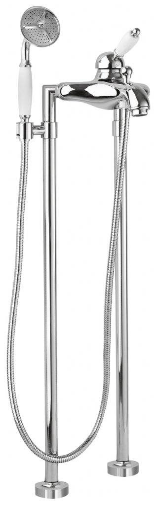 Купить Смеситель для ванны и душа Cezares Elite хром, ручка металл ELITE-VDPM-01-M, Италия