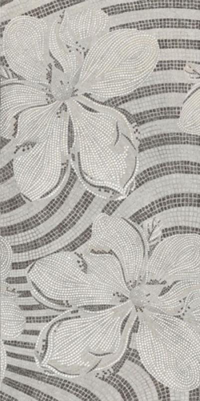 Купить Керамогранит Brennero Gems Decor Flower Silver Lapp Rett декор 60x120, Италия