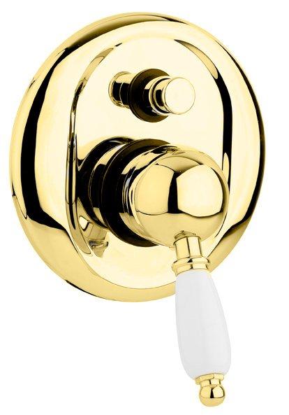 Купить Встраиваемый двухпозиционный смеситель для душа Cezares Elite золото, ручка орех ELITE-VDIM-03/24-Nc, Италия