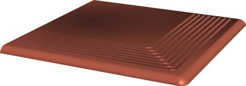 Купить Керамическая плитка Cloud Rosa ступень угловая 30х30 мм/10 шт., Paradyz, Польша