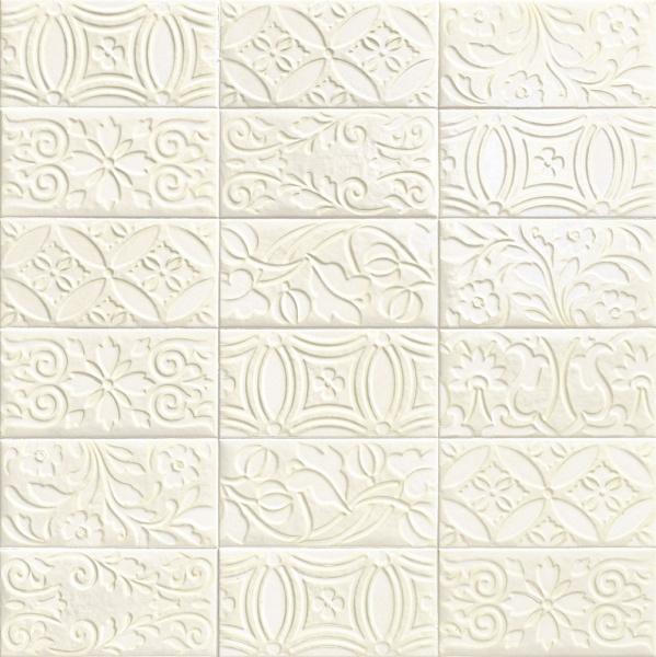Купить Керамическая плитка Mainzu Velvet Decor Bianco Настенная 10x20, Испания