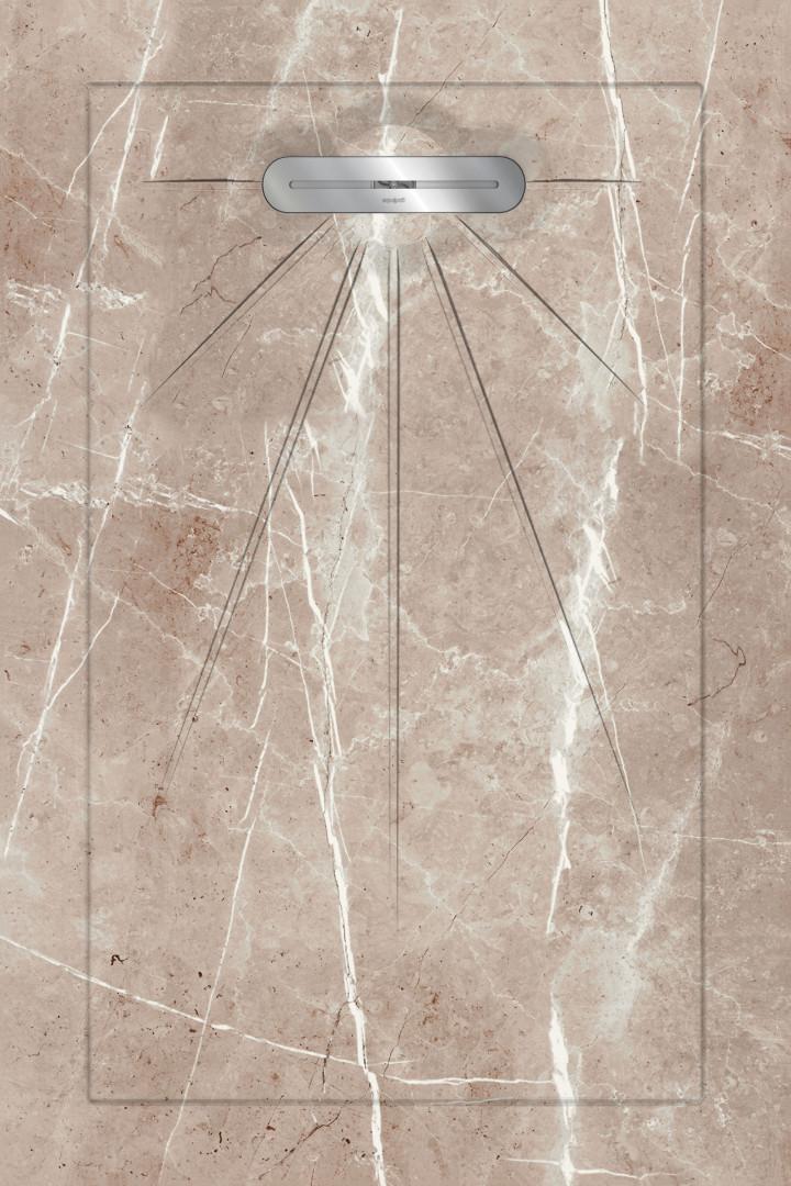 Душевые поддоны Aquanit Luxor Light Brown Multi Linear Massive 90x135