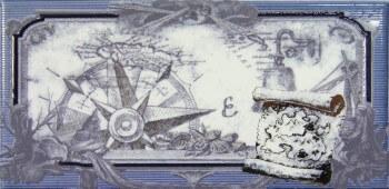 Купить Керамическая плитка Maritima Rain Nautica Cenefa-2 СД130 декор 10х20, Испания