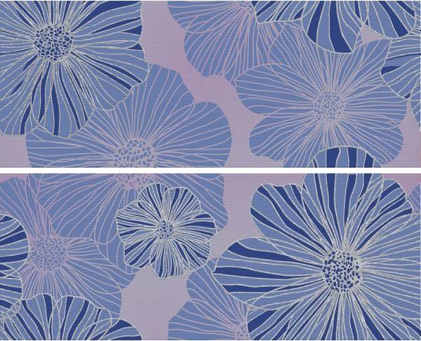 Купить Керамическая плитка Керлайф Splendida Azul Панно (компл.) 50, 5x40, 2, Россия