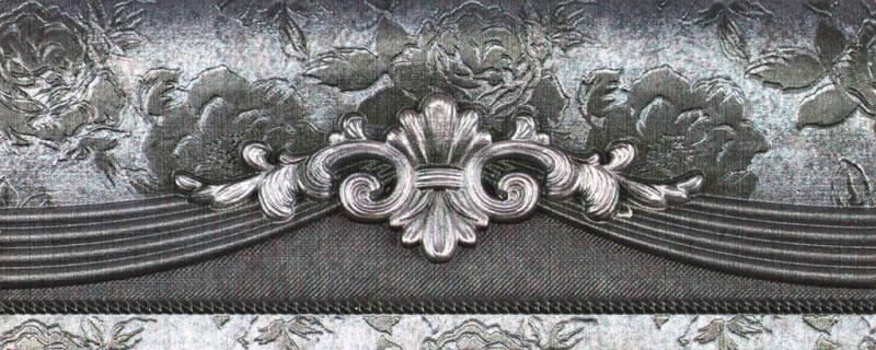 Купить Керамическая плитка Rocersa Habitat Cen. Silver бордюр 8х20, Испания