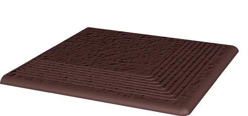 Купить Керамическая плитка Grupa Paradyz Natural Brown Duro ступень угловая структ 300х300 мм/10 шт., Польша