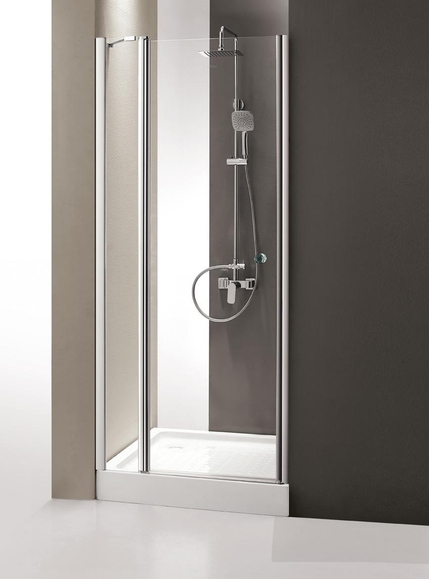 Купить Душевая дверь в нишу CEZARES TRIUMPH-B-12 1950x1000 (матовое стекло) Хром, Италия