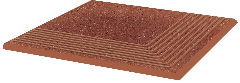 Купить Керамическая плитка Grupa Paradyz Taurus Rosa ступень угловая структ 300х300 мм/10 шт., Польша