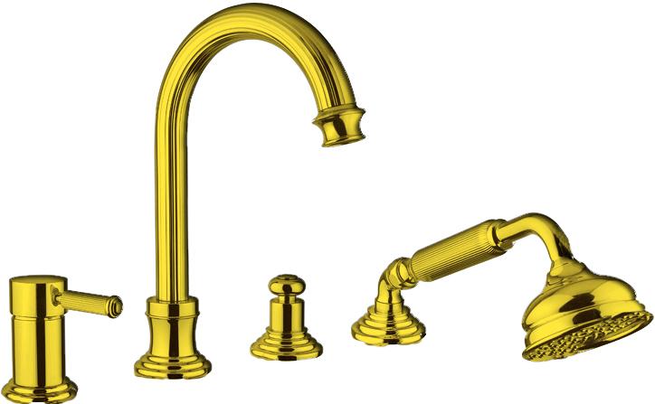 Купить Смеситель для ванны и душа Cezares Olimp золото OLIMP-BVDM-03/24-L, Италия