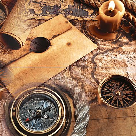 Купить Керамическая плитка Ceramica Classic Adventure Панно P2D195 40х40 (из 2 плиток), Россия