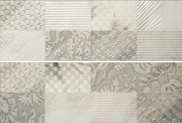 Купить Керамическая плитка Porcelanite Dos 7511 Composicion Gallery II Gris (компл. из 2 шт) декор 25х75, Испания