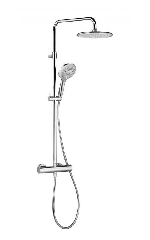 Душевая система с термостатом, ручным и верхним душем Kludi Freshline хром 6709205-00