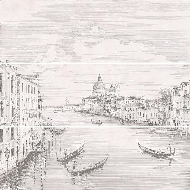 Купить Керамическая плитка Kerama Marazzi Город на воде Venice 12109R/3x/3F (К-т из 3 шт) Панно 75x75, Россия