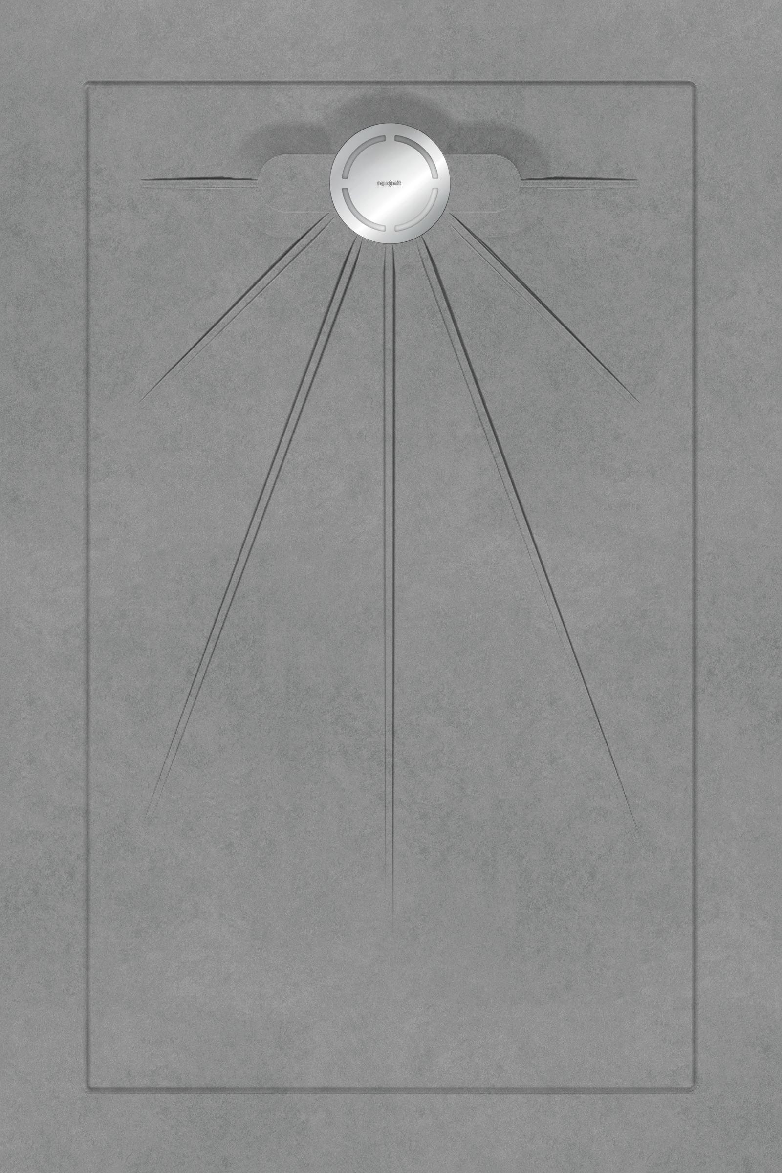 Душевые поддоны Aquanit Arc Grey Multi Circle Massive 90x135