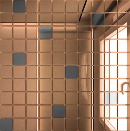 Купить Мозаика зеркальная Бронза + Графит Б90Г10 ДСТ 25 х 25/300 x 300 мм (10шт) - 0, 9, Россия