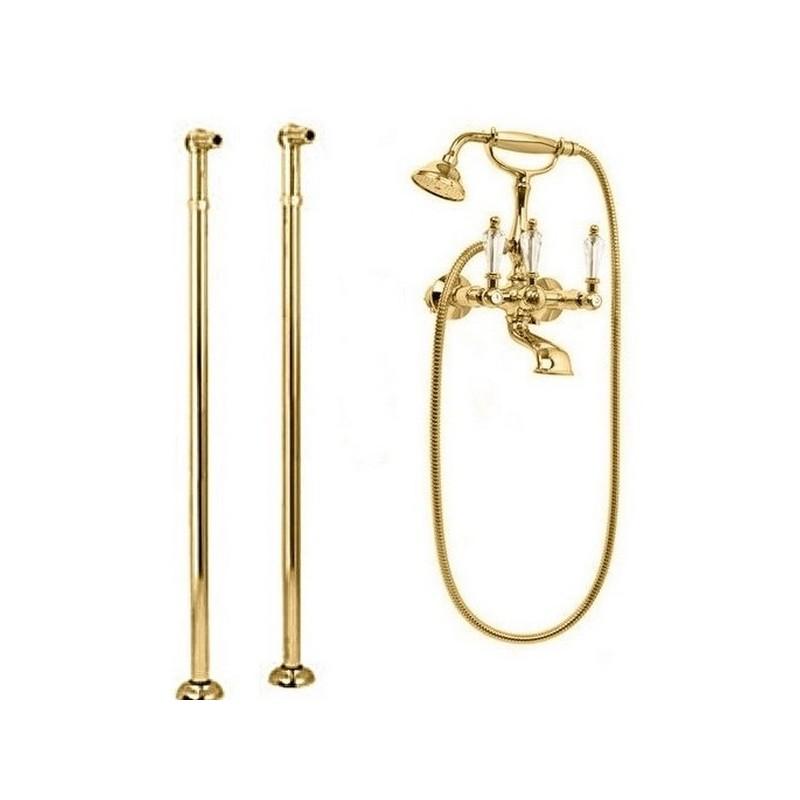 Купить Смеситель для ванны и душа Cezares Diamond золото, ручка Swarovski DIAMOND-VDP-03/24-Sw, Италия