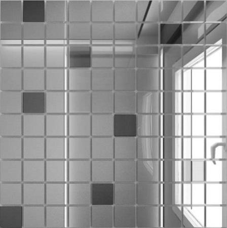Купить Мозаика зеркальная Серебро + Графит С90Г10 ДСТ 25 х 25/300 x 300 мм (10шт) - 0, 9, Россия