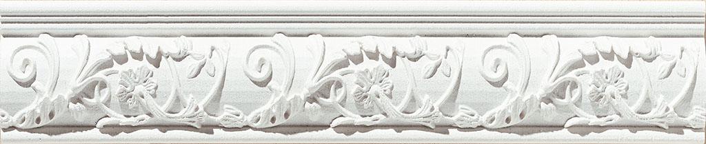 Купить Керамическая плитка Azulev Onice Listello Aradia Blanco бордюр 6x29, Испания