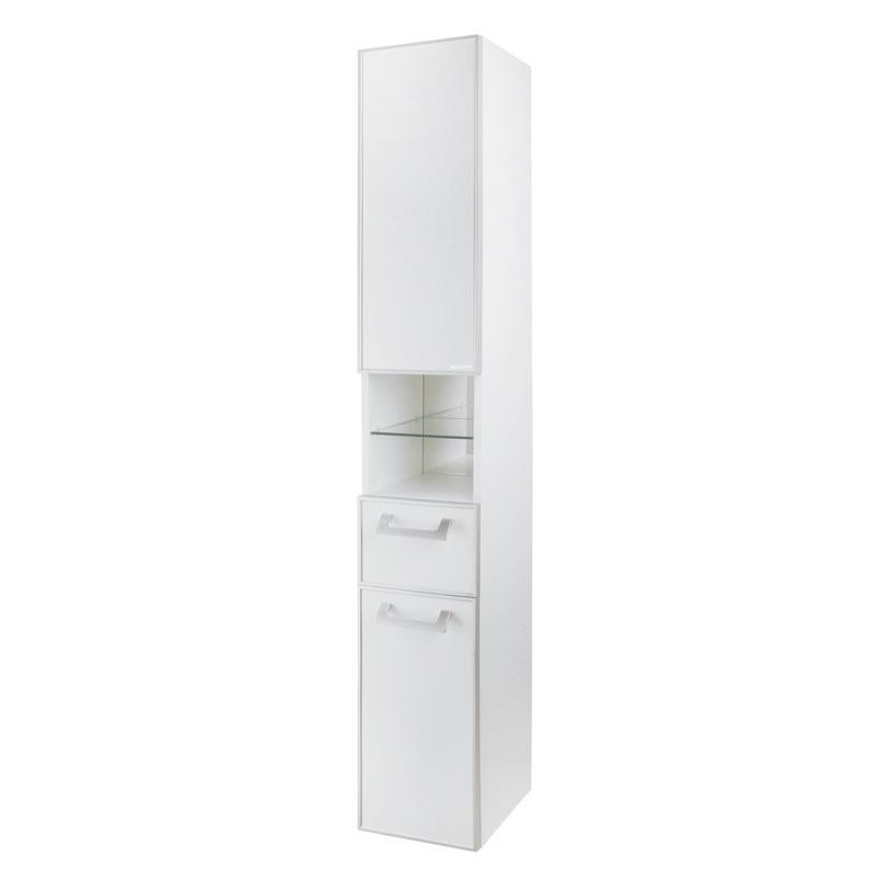 Купить Шкаф-колонна АКВАТОН САЙГОН подвесной, правый белый, Акватон, Россия