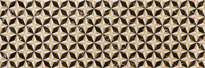 Керамическая плитка Италон Elite Dark Inserto Flyrose (600080000223) настенная 25х75, Россия  - Купить