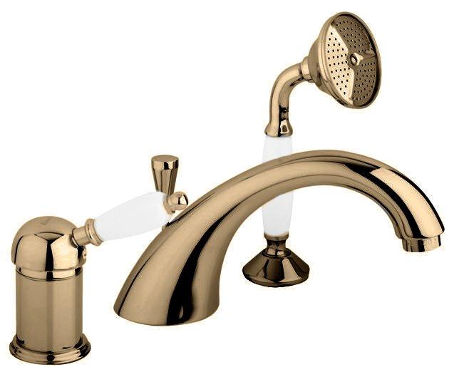 Купить Смеситель для ванны и душа Cezares Elite бронза, ручка орех ELITE-BVDM-02-Nc, Италия